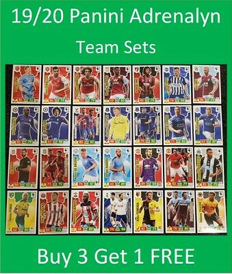 Panini Adrenalyn XL 2019/20 EPL Soccer Cards - Team Sets - Buy 3 Get 1 FREE
