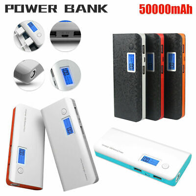 Power Bank 300000mAh Portable Solar Panel Dual USB External Battery Charger AU