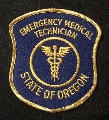 State Of Oregon Or Emt Ems Ambulance Fire Rescue Patch Old Rare