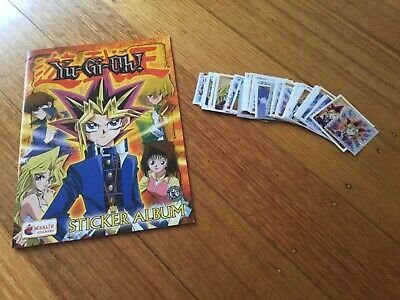 EMPTY YU-GI-OH STICKER ALBUM WITH SOME STICKERS (Not Inserted) By MERLIN