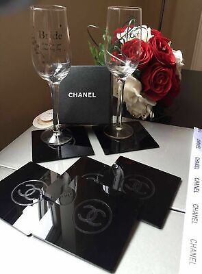 C Logo gorgeous black Coaster - VIP - amazing gift