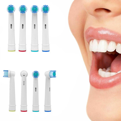 Electric Toothbrush Replacement Head Compatible With Oral-B Soft Bristle 4 Pcs