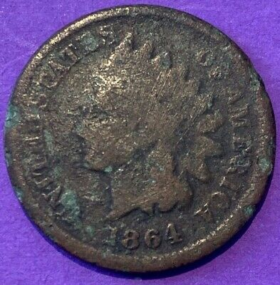 1864 Indian Head Bronze Penny US Coin One Cent coin 1c