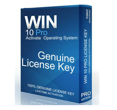 Microsoft Windows 10 Professional License Product Key 32/64 Bits INSTANT