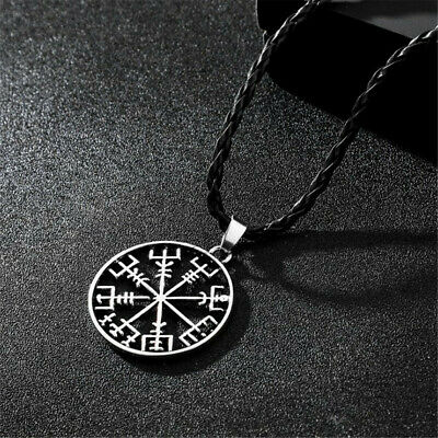 Viking Odin's Symbol of Norse Runic Pendant Necklace Runes Vegvisir Compass Gift