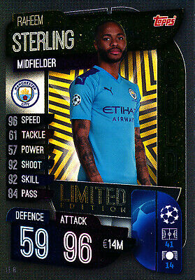 Match Attax Champions League 19/20, Raheem Sterling (Manchester City, Limited)