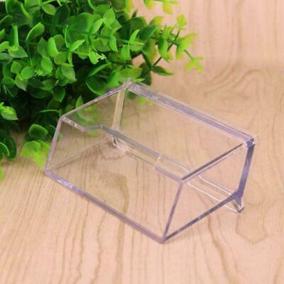 Transparent Table Business Card Holder Display Stand Desk top Plastic Acryl V9B3