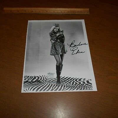 Barbara Eden is an American film, stage + TV actress Hand Signed 7.5 x 9.5 Photo