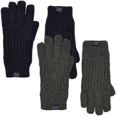 Joules Mens Bamburgh Ribbed Cuff Knitted Winter Gloves
