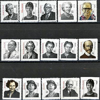 Distinguished Americans Complete MNH Set of All 15 Stamps Scott's 3420 to 3436