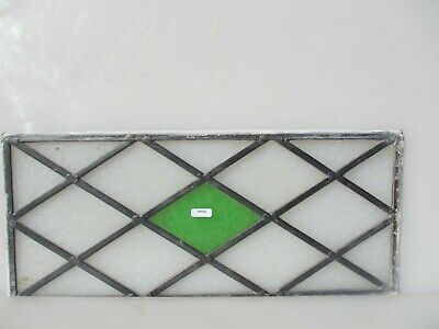 """Antique Stained Glass Window Panel Old Antique Leaded Victorian Vintage 19"""" x 8"""""""