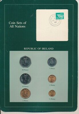 Ireland: 1980s Brilliant UNC Set in World Coin Sets of All Nations Package