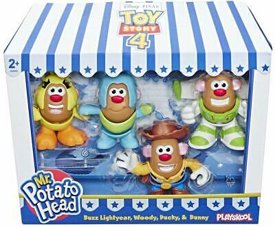 Mr. Potato Head Disney Pixar Toy Story Mini 4 Pack Buzz,Woody,Ducky,Bunny Figure
