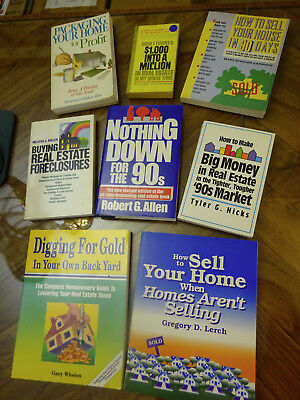 Lot of 8 books Buying Selling Investing in Real Estate Houses (GOOD, USED)