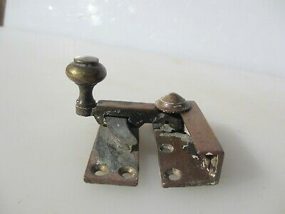 Victorian Brass Sash Window Latch Lock Catche Fastener Old Antique Georgian