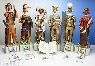 Ski Country Lot of 6 Indian Whiskey Decanters Japan in Original Factory Package