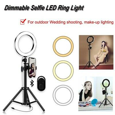 1 Unit High Quality 20CM Dimmable Selfie LED Ring Light with variable 1.5 meters