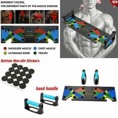 9 In1Push Up Rack Board Fitness Workout Train Gym Exercise Pushup Stands NEW UK