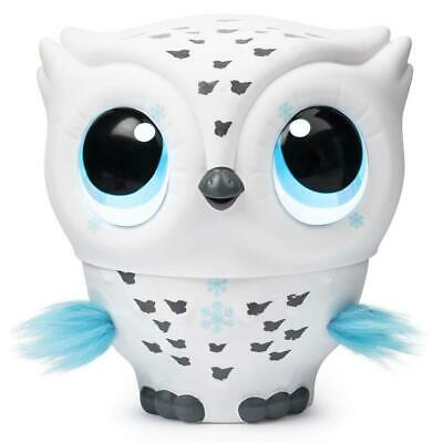 Owleez 6046148 Flying Baby Owl Interactive Toy with Lights and Sounds White