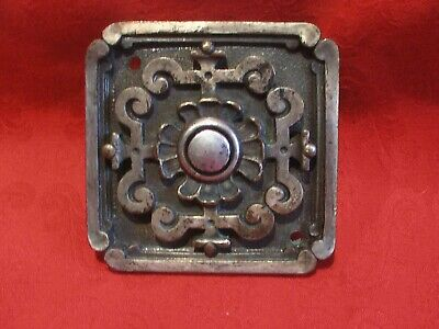 Good Quality Silver Plated on Brass Ornate Victorian Servants Bell Push Button 2