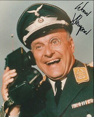 Werner Klemperer signed color Klink. Hogan's Heroes.