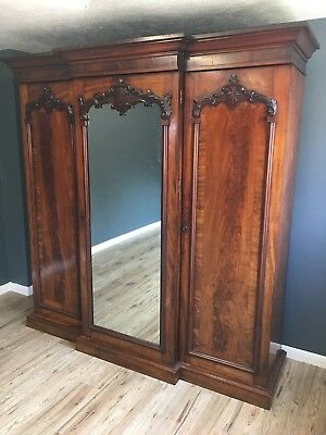 Breakfront Wardrobe / Linen Press / Fitted Interior / Free Delivery