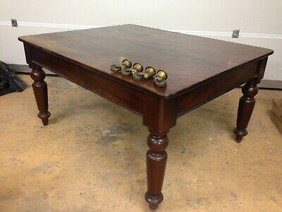 Victorian Mahogany Dining Table Late C19th (Antique) - use or restore