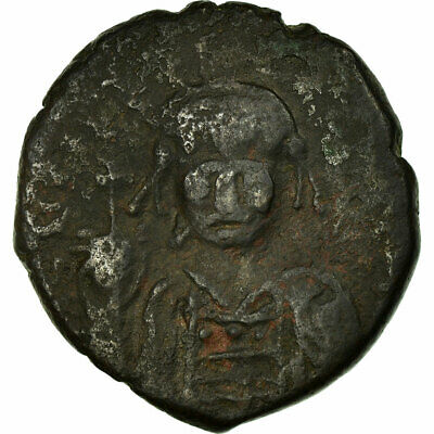 [#516742] Coin, Maurice Tiberius, Follis, 582-602, Nicomedia, VF(30-35), Copper