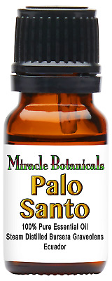 Miracle Botanicals Wildcrafted Palo Santo Essential Oil - 100% Pure Bursera - -