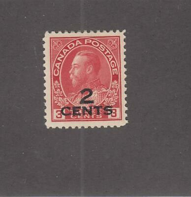 CANADA (MK4486) # 140  VF-MH  2 on 3cts  1926 KGV ADMIRAL PROVISIONAL CAT $40
