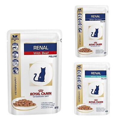 Royal Canin Veterinary Diet Cat Renal  Tuna/Chicken/Beef Mix 12/24/36/48 x 85g