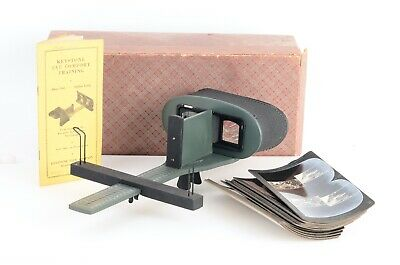 :Keystone Eye Comfort Training Alpha Unit Stereoscope w/ 12 Slides - Unused!