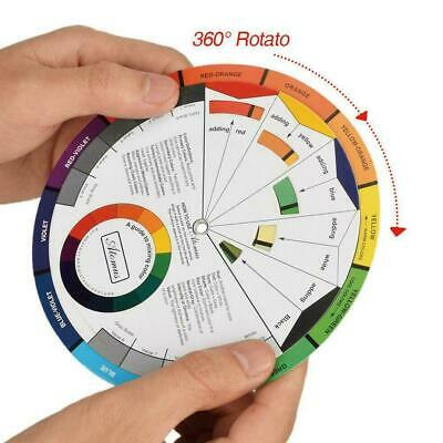 1pcs 14cm-Portable Color Wheel Mixing Guide For Tattoo Paint Supply Hobby M E9Q6