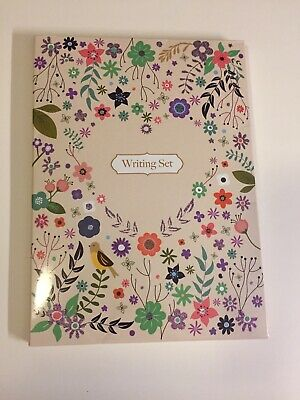 Stationery Writing Set With Envelopes - Lined Stationary Flowers Birds 🌸🌼🌺