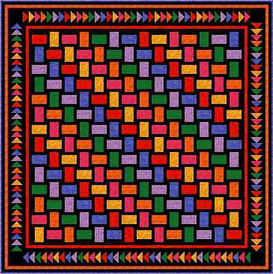 """QUAINTLY AMISH - 91"""" - Pre-cut Quilt Kit by Quilt-Addicts Queen size......"""