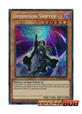 YUGIOH x 1 Dimension Shifter - TN19-EN012 - Prismatic Secret Rare - Limited Edit