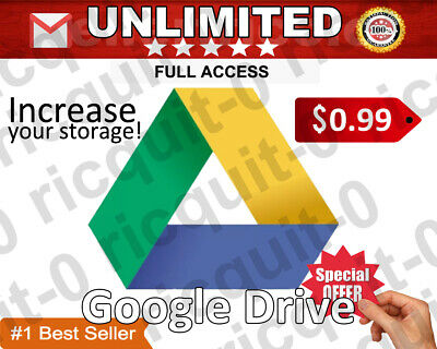 Google Drive Unlimited Lifetime Storage Buy 1 And Get 3 For Free!!