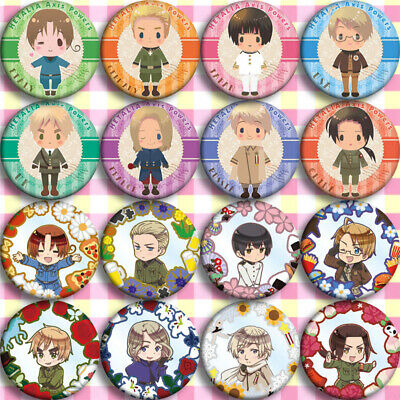 8pcs Anime Axis Power Hetalia Badges Itabag Button Cosplay Pin Brooch Gift#R2045