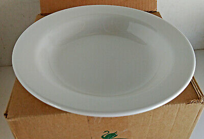 Box of 12 Australian Fine China Soup Bowl Plate 230mm White Savoy  (9949)