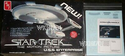 Star Trek USS ENTERPRISE Smooth Refit Model Kit MISB + Aztec Decals & More TMP