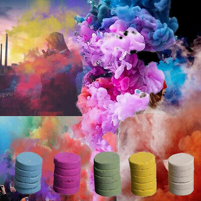 5Pcs Round Smoke Cake Colorful Effect Show Photography Movie Aid Background Prop