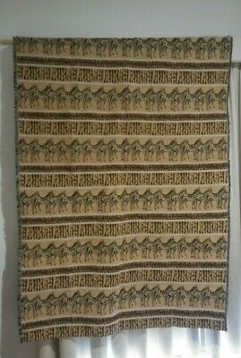 Zebra & African Themed, Fringed Tapestry Wall Hanging