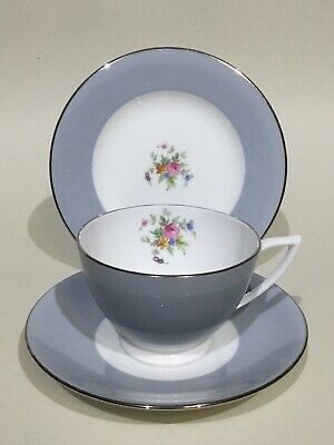 Minton Bone China Tea Cup, Saucer & Plate Trio