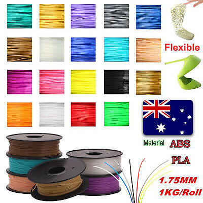 3D Printing Filament 1Kg 1.75mm PLA ABS printer +/- 0.02mm AU Stock Multi-colour