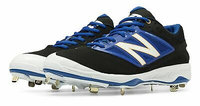 New Balance Low-Cut 4040v3 Metal Baseball Cleat Mens Shoes Black with Blue Size