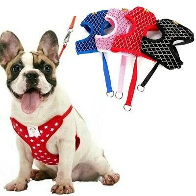 Pet Dog Puppy Mesh Harness & Leash Set Walk Strap Soft Vest for Small Dogs Cat