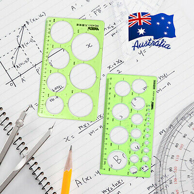 Circle Round Template Stencil Ruler Drafting Quilling Tool Craft Green D