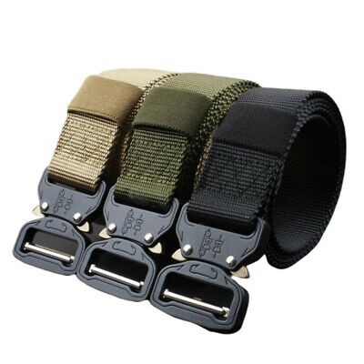 Tactical Belt Military Nylon Automatic Metal Alloy Buckle Men's Fashion ZB
