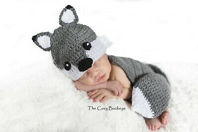 Newborn Wolf Hat and Cape Set - Newborn Prop - Animal Character