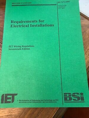 Requirements For Electrical Installations IET Wiring Regulations 17th Edit.